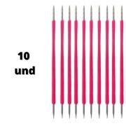 palito de inox isis cutelaria pink 10und