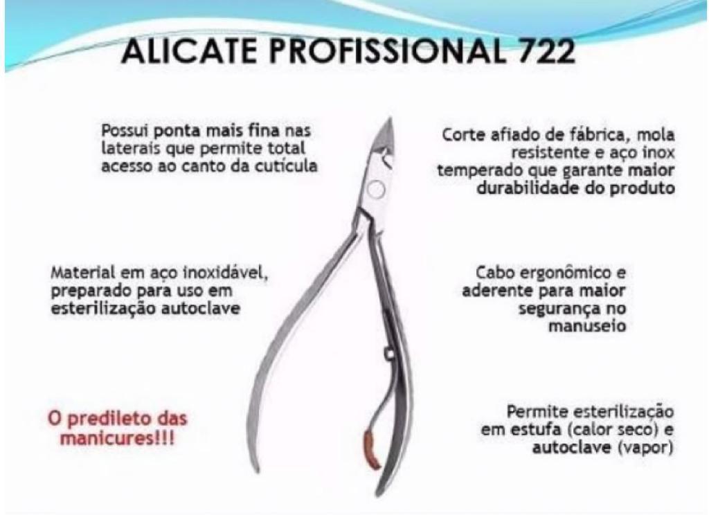ALICATE 722 MUNDIAL + KIT AMOLECEDOR DE CUTÍCULA AMOLECE