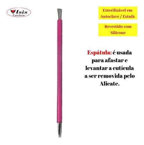 espátula de inox isis cutelaria pink