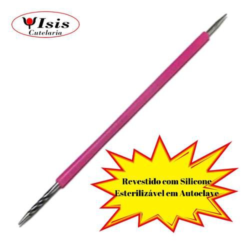 palito de inox isis cutelaria pink