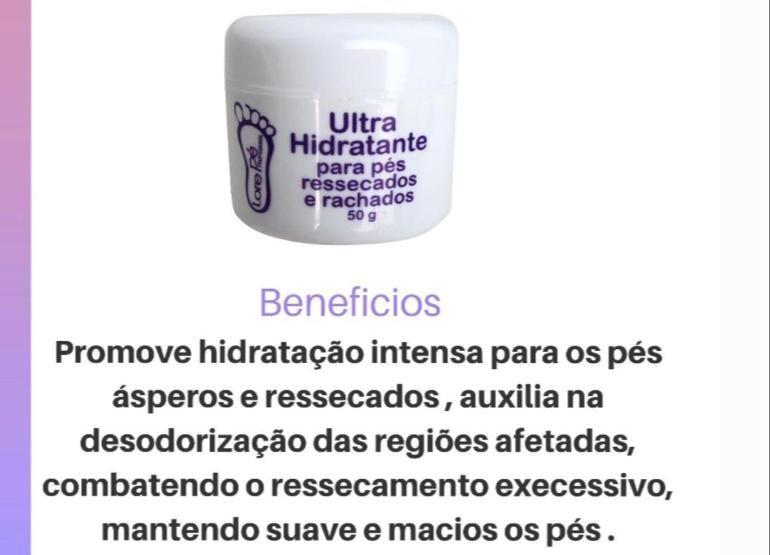 ULTRA HIDRATANTE P/ PÉS RESSECADOS E RACHADOS LORE PÉ 50G
