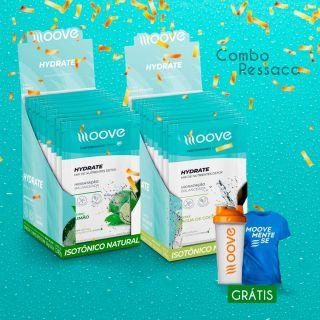 Combo Ressaca Moove - 2 displays Hydrate  Grátis 1 Camiseta + 1 Coqueteleira