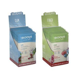 Dietas e Fibras: Moove Slim + Moove Fiber - Display com 12 sachês