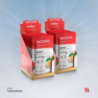 Kit 02 Moove Nutrition Energy Tangerina - Display c/ 12 sachês cada