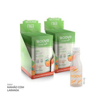 Kit 02 Moove Nutrition Fiber Laranja Com Mamão - Display com 12 sachês cada