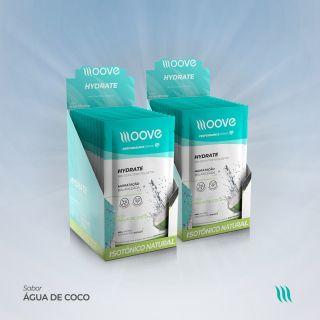 Kit 02 Moove Nutrition Hydrate Coco - Display com 12 sachês cada