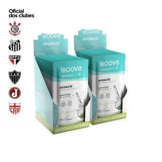 Kit 02 Moove Nutrition Hydrate Coco - Display com 12 sachês cada