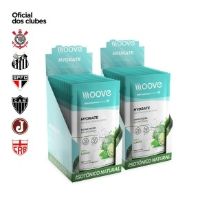 Kit 02 Moove Nutrition Hydrate Limão - Display com 12 sachês cada
