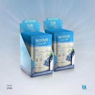 Kit 02 Moove Nutrition  Slim Uva - Display c/ 12 sachês cada