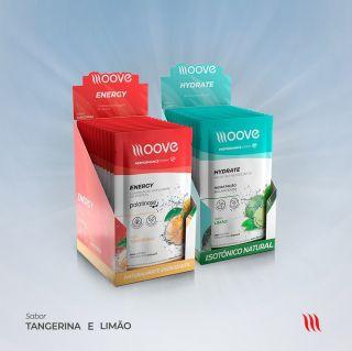 Kit Moove Nutrition Energy Tangerina + Moove Hydrate Limão - Display com 12 sachês cada