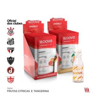 Kit Moove Nutrition Energy Frutas Citricas + Moove Energy Tangerina - Display com 12 sachês cada