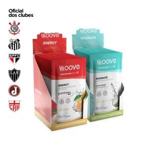 Kit Moove Nutrition  Energy Tangerina + Moove Hydrate Coco - Display com 12 sachês cada