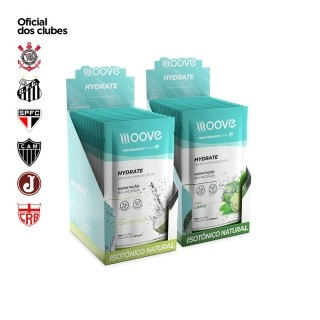 Kit Moove Nutrition Hydrate Coco - Moove Hydrate Limão - Display com 12 sachês cada