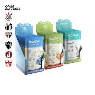 Kit Moove Nutrition Slim Uva + Fiber Laranja com Mamão + Hydrate Coco - Display com 12 sachês cada