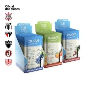 Kit Moove Nutrition Slim Uva + Slim Hibiscus com Limão + Fiber Mamão com Laranja - Display com 12 sachês cada