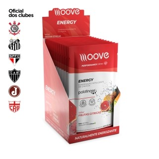 Moove Nutrition Energy Frutas Citricas - Display com 12 sachês