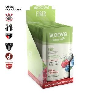 Moove Nutrition Fiber Frutas Vermelhas - Display com 12 sachês
