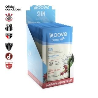 Moove Nutrition Slim Hibiscus com Limão Display com 12 sachês