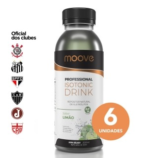 Moove Professional Isotonic Drink - Sabor Limão - 6 Unidades Moove Nutrition