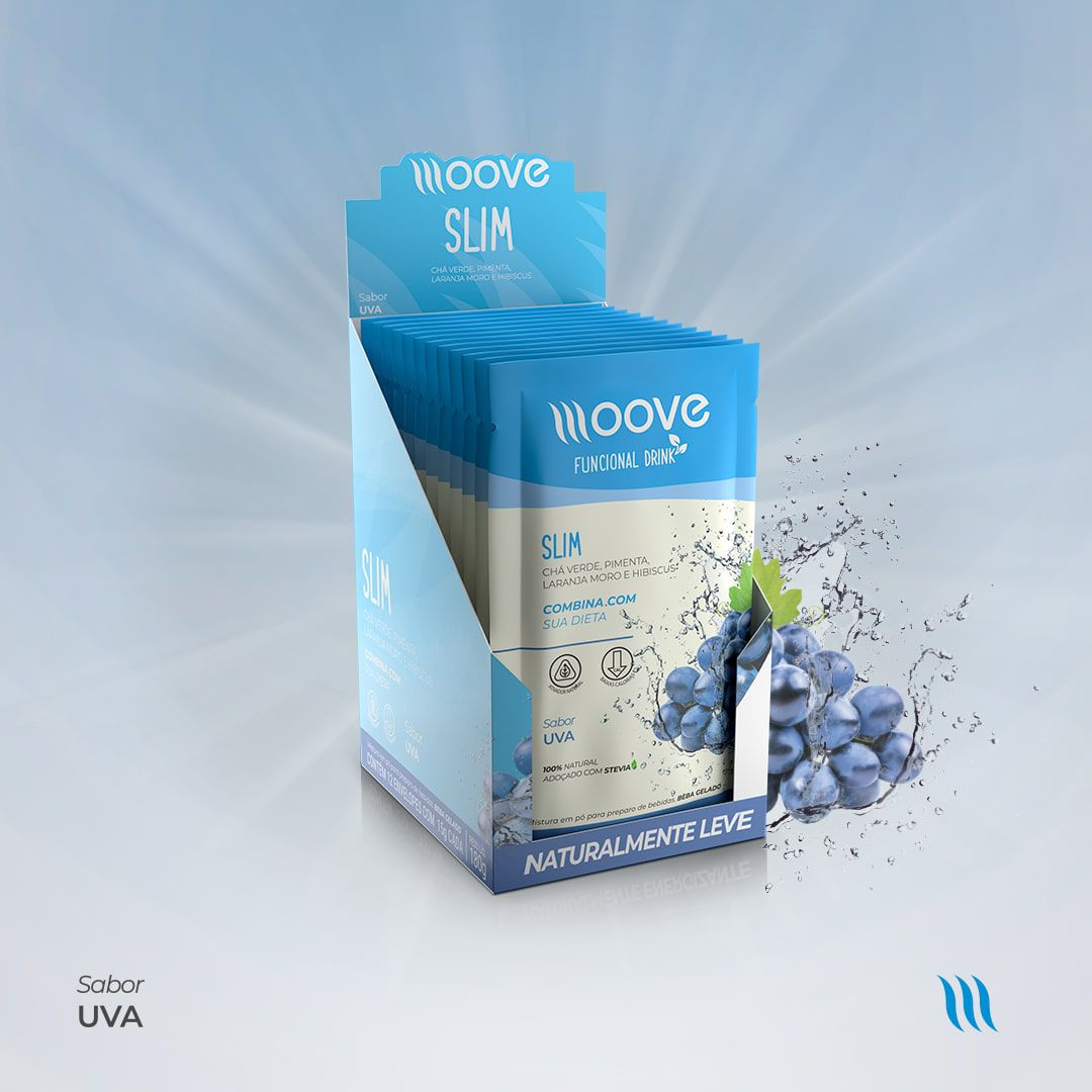 Kit Moove Nutrition  Slim Uva + Moove Fiber Mamão - Display com 12 sachês cada