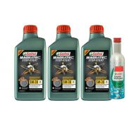 3 Lts CASTROL 5W30 MAGNATEC + Engine Shampoo