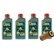 4 Lts Castrol 5w40 Sintetico 508.88 + Filtro PEL680