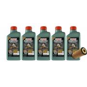 5 Lts Castrol 5w40 Sintetico 502 00 + Filtro PEL680