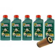 5 Lts Castrol 5w40 Sintetico 508.88 + Filtro PEL680