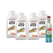CASTROL GTX 20W50 4 LITROS + CASTROL ENGINE SHAMPOO