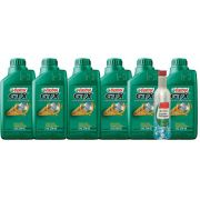 KIT 6 LTS GTX 25W60 + ENGINE shampoo CASTROL