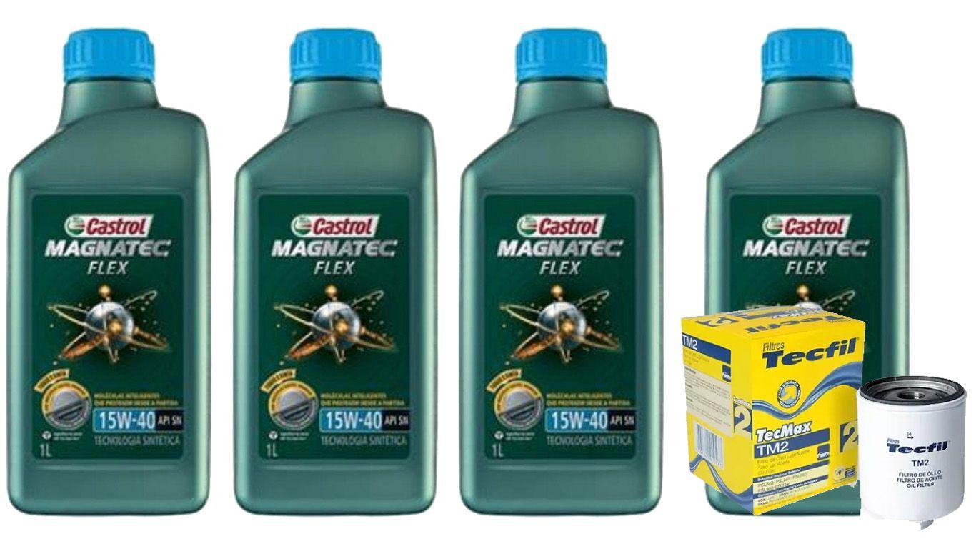 4 Castrol Magnatec 15w40 + Filtro TM2 (VW)