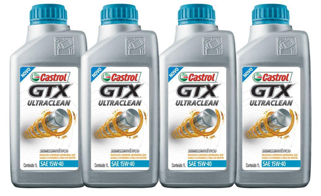 4 Litros Castrol Gtx 15w40 Ultraclean
