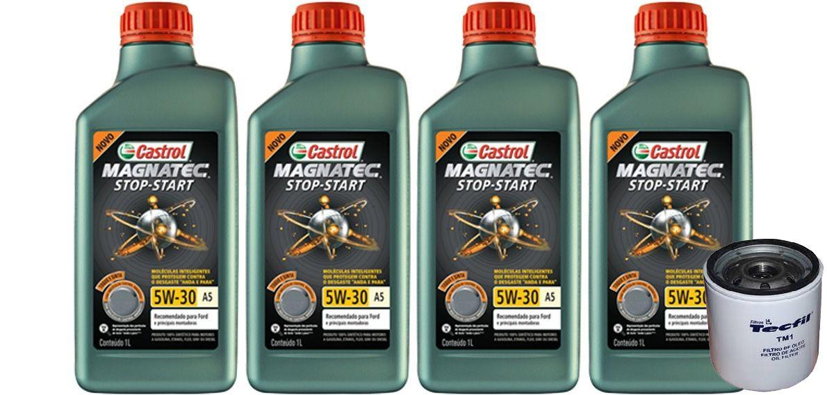 4 Lts Castrol 5w30 Sintetico A5 Sn + Filtro Ecoesport (tm1)