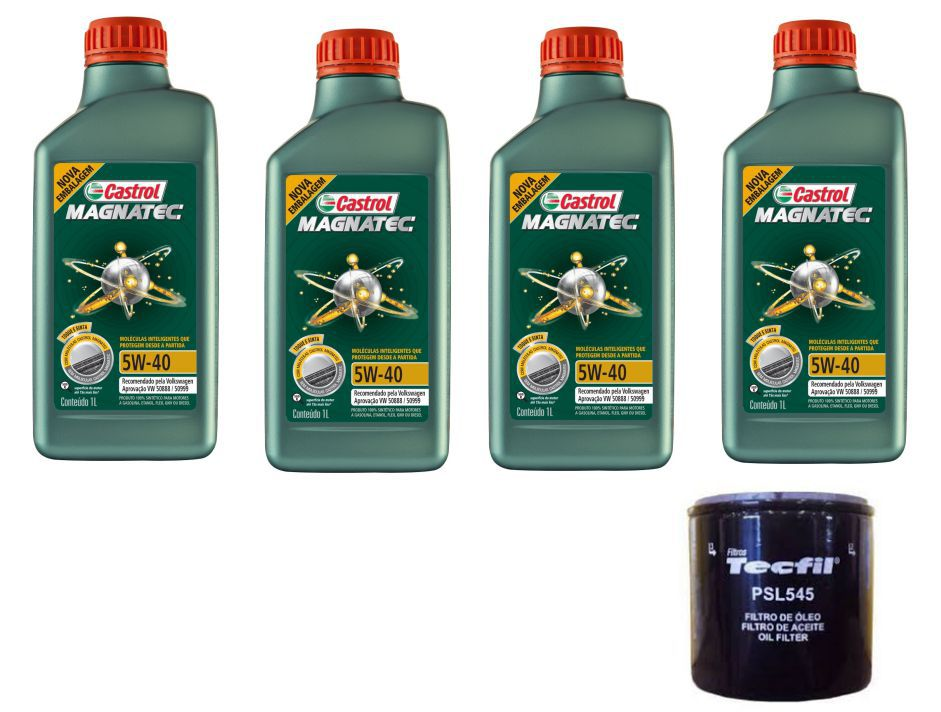 4 Lts Castrol 5w40 Sintetico 508.88 + Filtro Psl545 UP