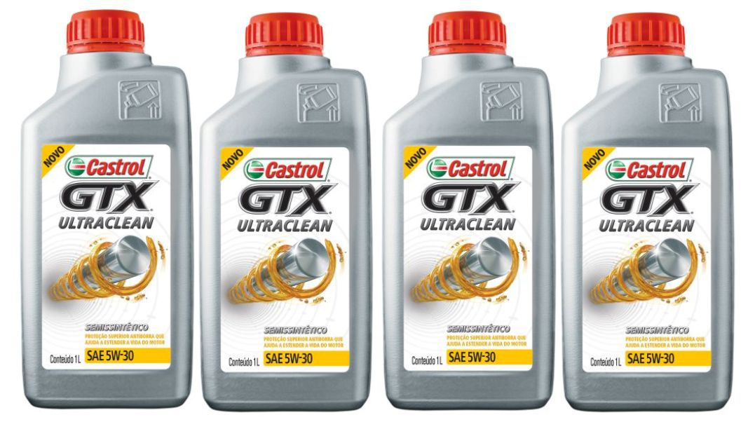 4 Lts Castrol Gtx 5w30 Sn Ultraclean