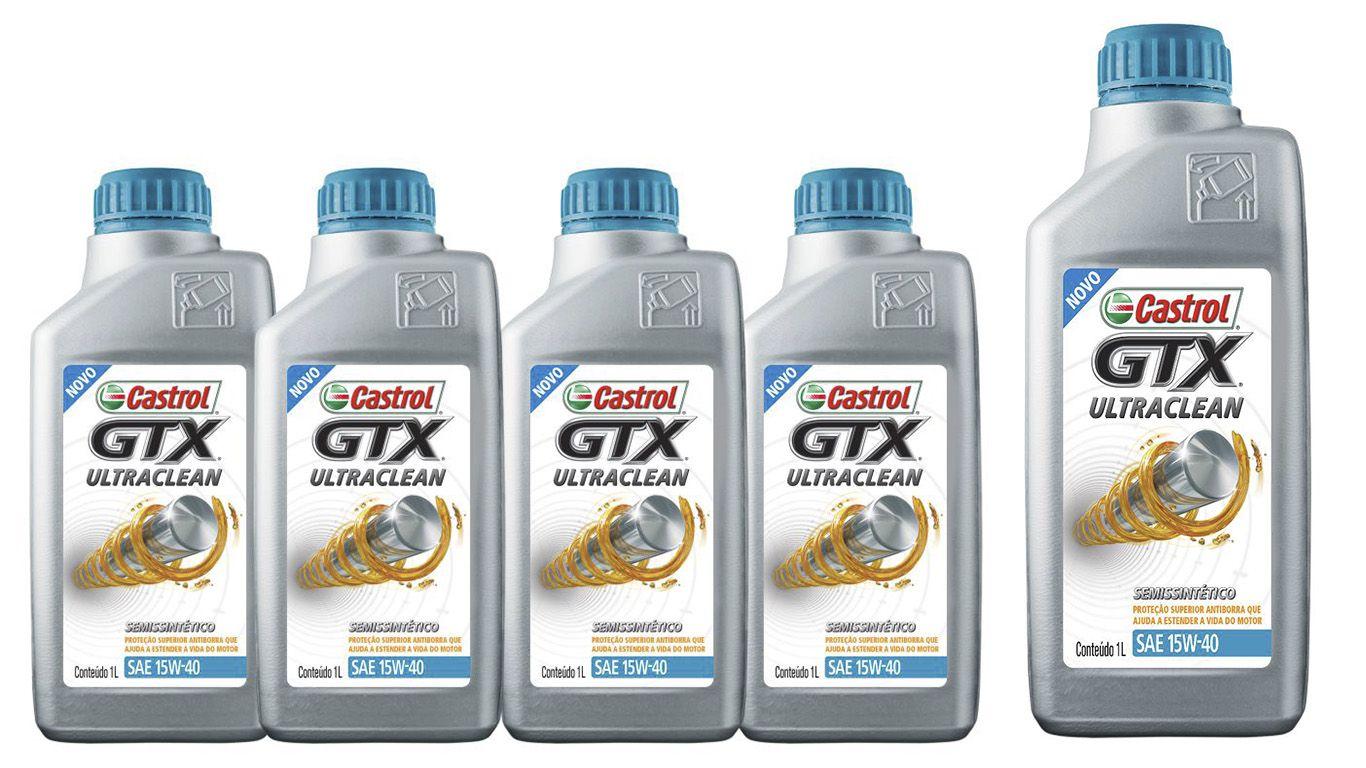 5 Litros Castrol Gtx 15w40 Sl Ultraclean