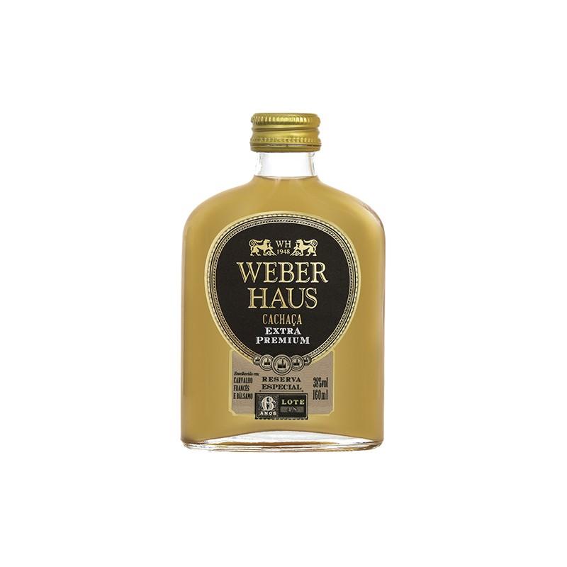 Cachaça Weber Haus Extra Premium Reserva Esp 6 Anos 160ml