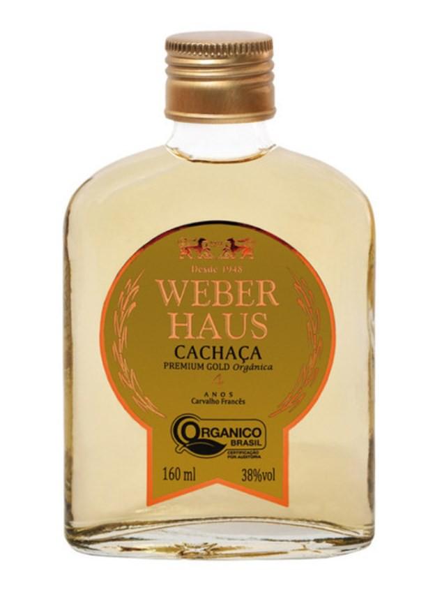 Cachaça Weber Haus Premium Gold Orgânica 4 Anos 160ml