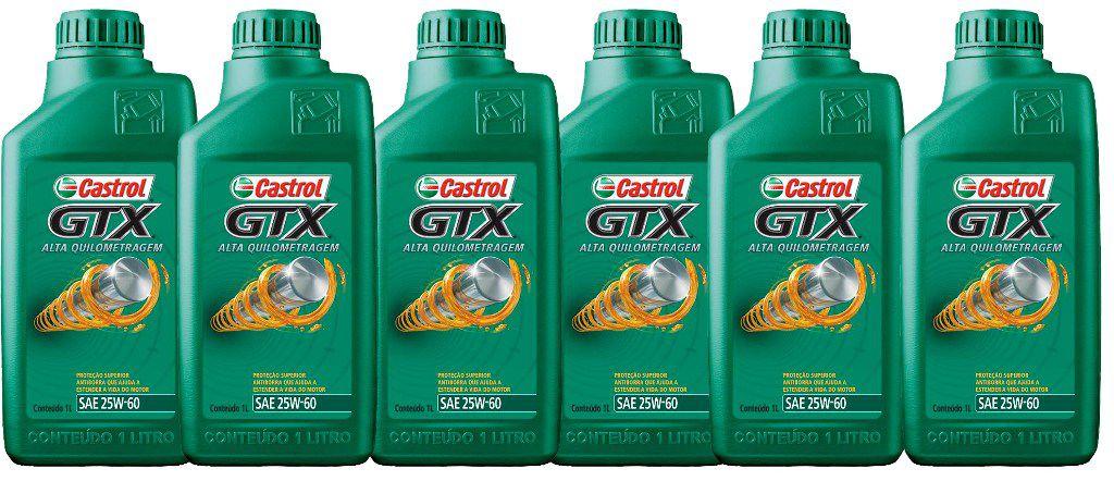 CASTROL GTX 25W60 6 LITROS
