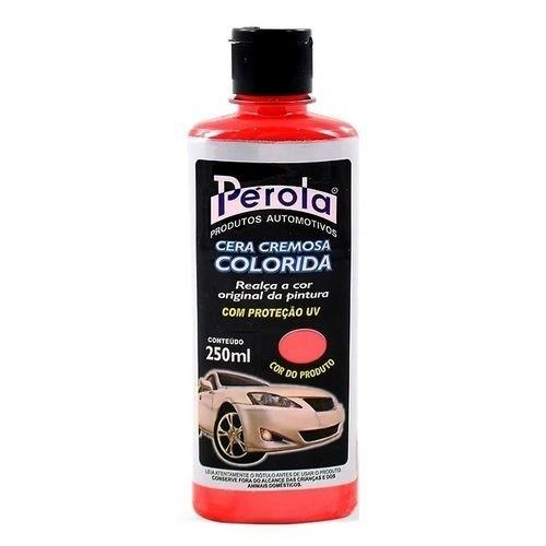 Cera Automotiva Tira Riscado Colorida VERMELHA 250ml