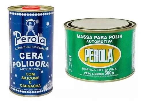 Cera Polidora Pérola 500ml + Massa De Polir N2 500g