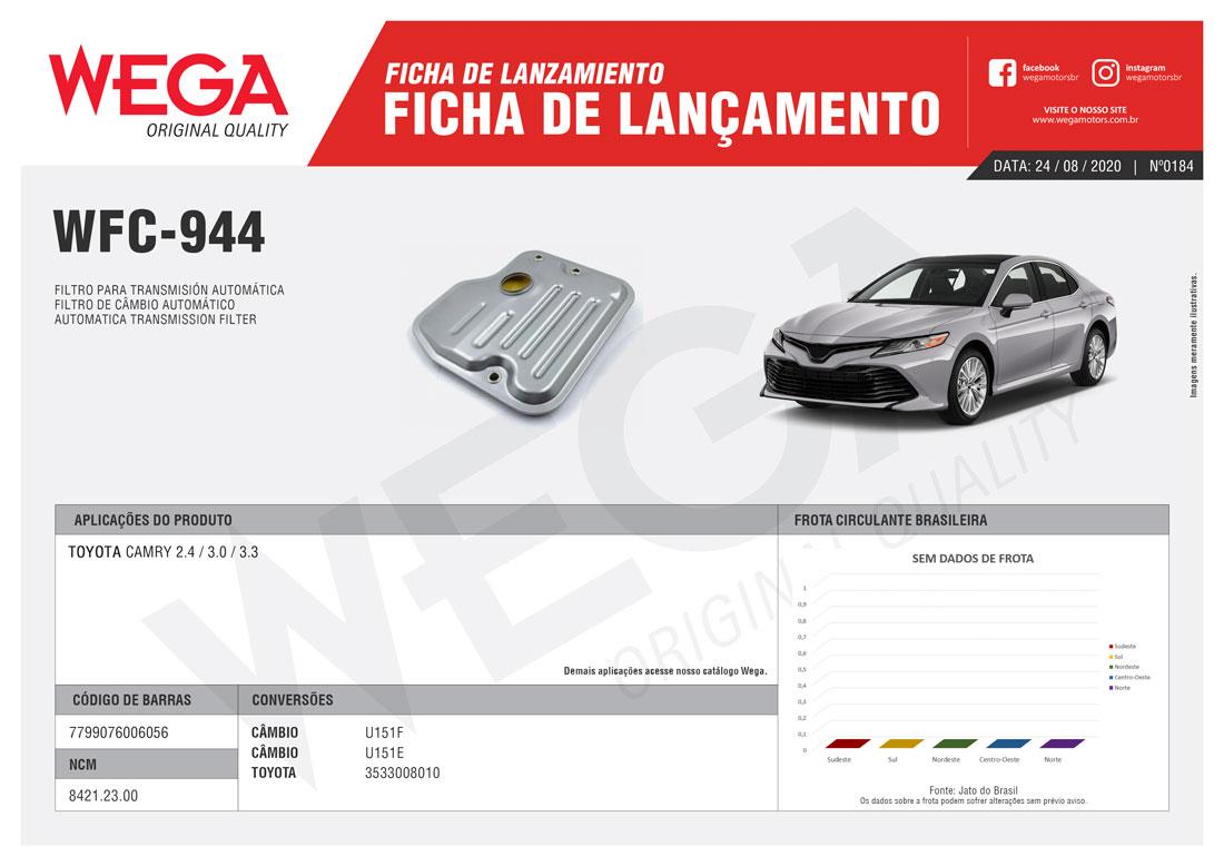 FFiltro Câmbio Automático Wega Toyota Camry 3.0 WFC944