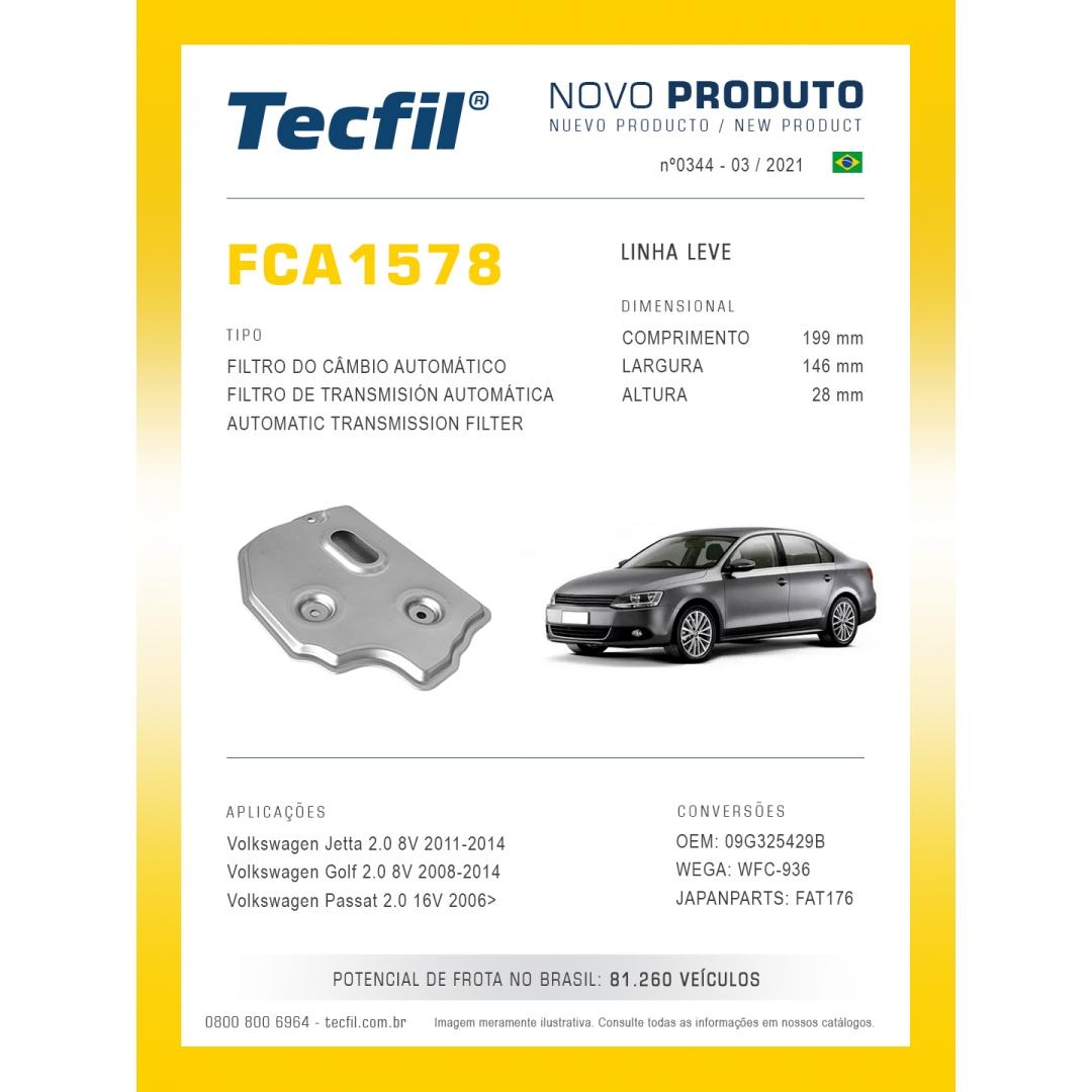Filtro Câmbio Aut Jetta Golf Passat FCA1578 Tecfil