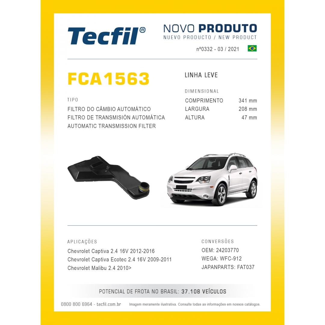 Filtro Cambio Chevrolet Captiva 2.4 16v Fca1563 Tecfil