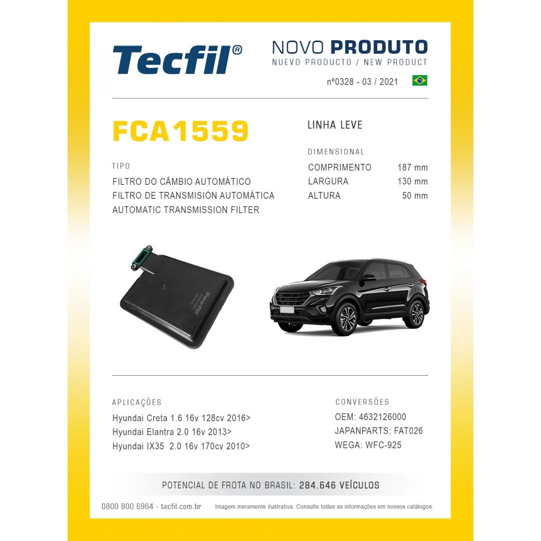 Filtro Cambio Creta Elantra IX35 FCA1559 Tecfil