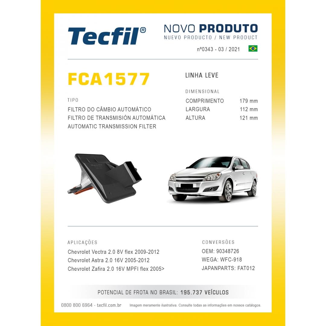 Filtro Cambio S10 2.8 Vectra 2.0 Zafira 2.0 FCA1577 Tecfil