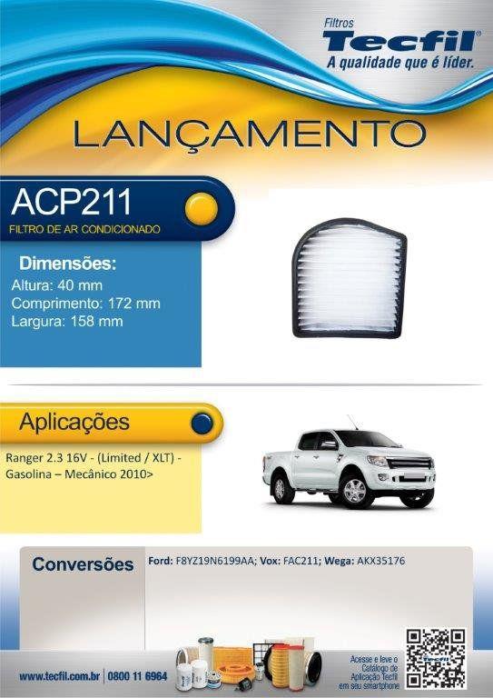 Filtro De Ar Condicionado Ford Ranger Tecfil Acp211