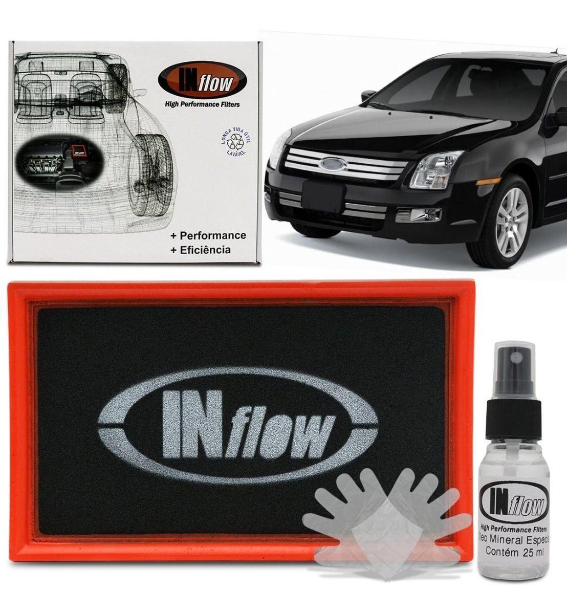 Filtro De Ar Esportivo Inflow Ford Fusion 2.3 e 2.5 Hpf2400