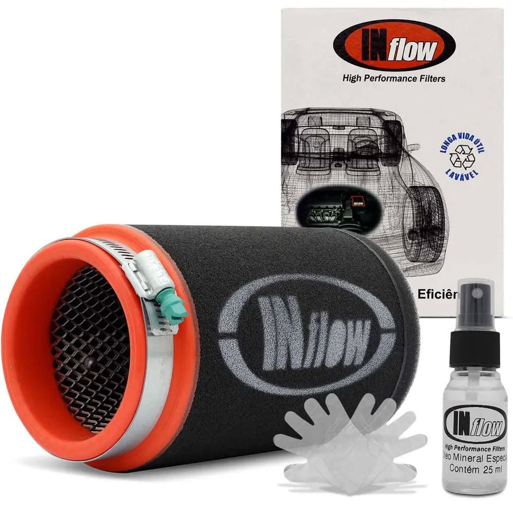 Filtro De Ar Inflow Esportivo Cilíndrico Universal Hpf9933 3 pol