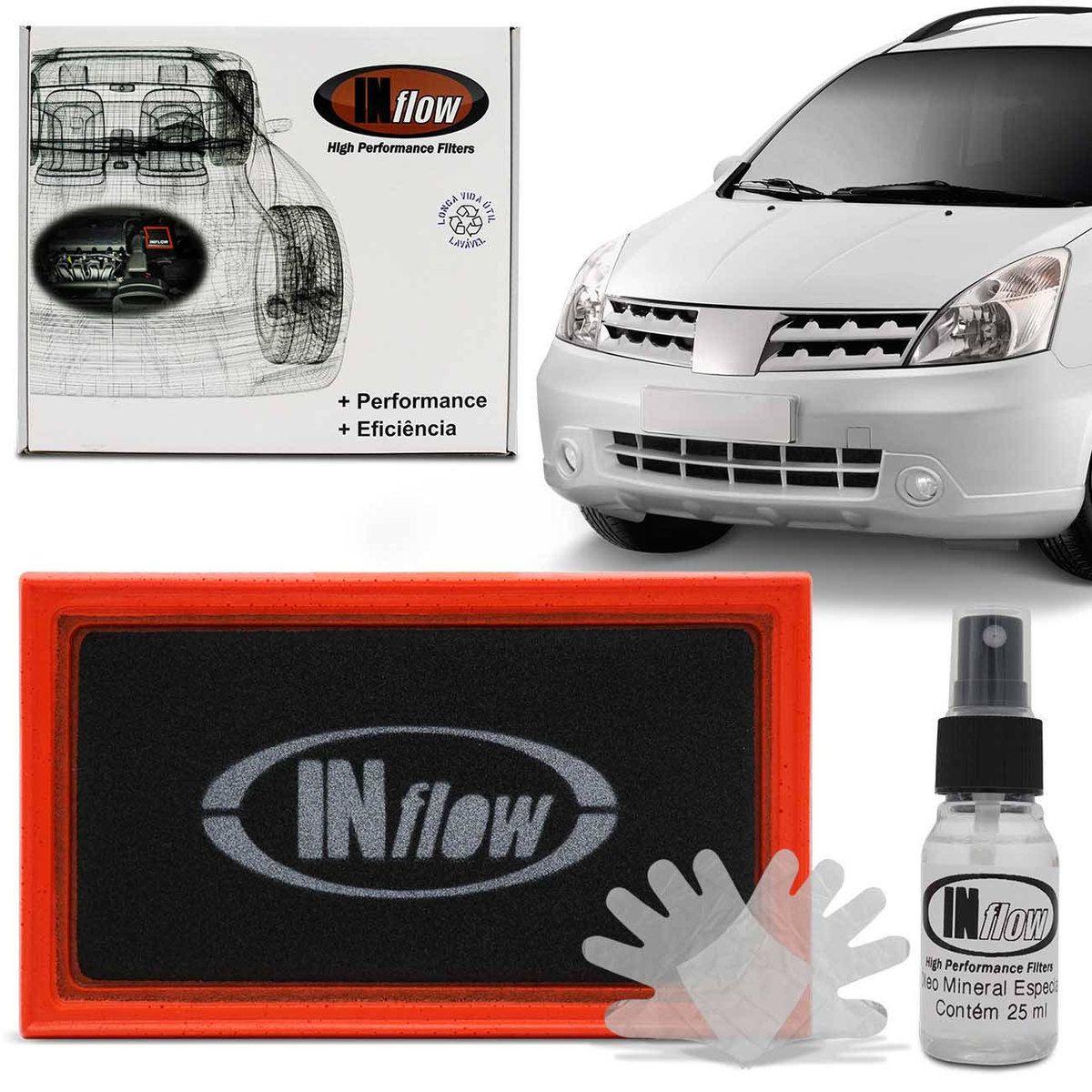 Filtro De Ar Inflow Nissan Livina Grand Livina Tiida Hpf9925